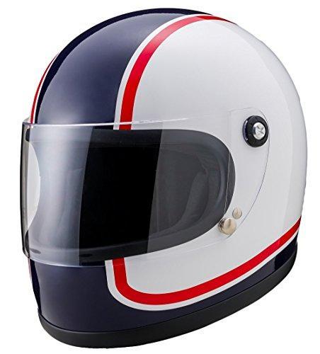 山城謹製 ニューレトロフルフェイスヘルメット 750  カラー:青 サイズ:L【smtb-s】