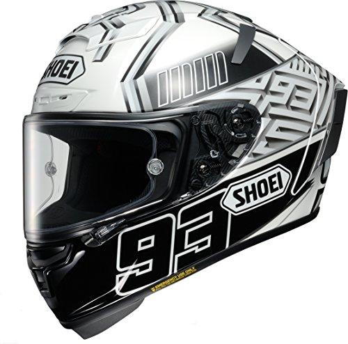 SHOEI 【必ず購入前に仕様をご確認下さい】X-Fourteen MARQUEZ4 TC-6 WHITE/BLACK XL【smtb-s】