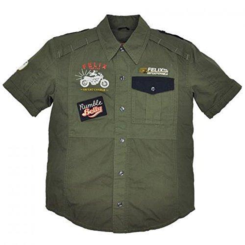 ランブル(RUMBLE) RUB-041 R/B×FELIX THECATピットシャツ KH LL (RUB-041/KH/LL)【smtb-s】
