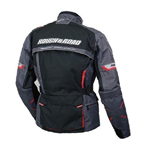 ラフアンドロード(ROUGH&ROAD) ZLトリプルレイヤーツーリングジャケット BK-L RR7003BK3【smtb-s】