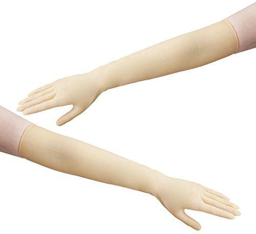 アズワン ラテックスロング手袋 パウダーフリー M 25双入NCGJ0551891-1432-02【smtb-s】