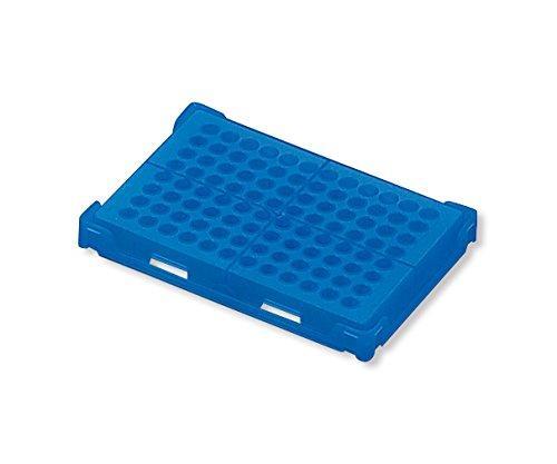 アズワン PCRラック 青 本体・フタ×20個入1箱(20個入り)1-4309-02【smtb-s】