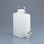 アズワン フッ素加工活栓付角型瓶 9L1本1-6487-01【smtb-s】