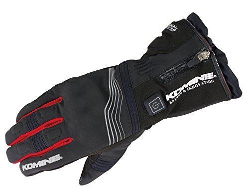 KOMINE(コミネ) コミネ EK-201 Protect E-Gloves 12V Black/Red 2XL【smtb-s】