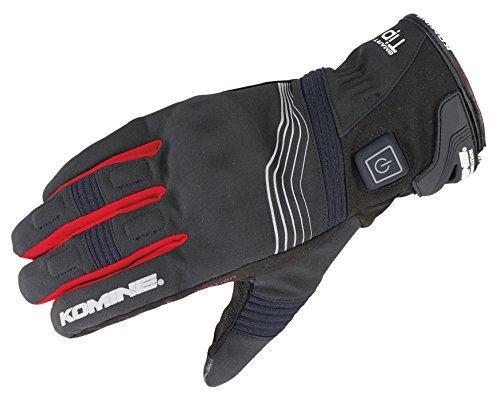 KOMINE(コミネ) コミネ EK-202 Protect E-Gloves Short 12V Black/Red XS【smtb-s】
