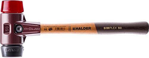 ロームヘルド・ハルダー 3026.06HALDER シンプレックスハンマー ゴム(黒)プラスティック(赤)頭径60mm4817753【smtb-s】