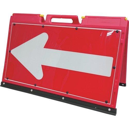 3093910仙台銘板 ソフトサインボード 赤/白反射(矢印板)サイズH600×W900mm8184838【smtb-s】