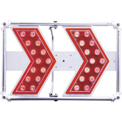 3093102仙台銘板 軽量型矢印板 LIGHT H400×W600mm 赤LED8184846【smtb-s】