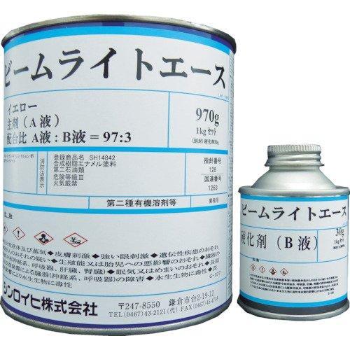 2001MJシンロイヒ ビームライトエース 4kg イエロー8186503【smtb-s】