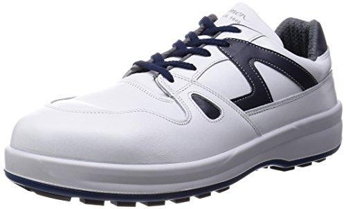 8611WB25.0シモン 安全靴 短靴 8611白/ブルー 25.0cm3514129【smtb-s】