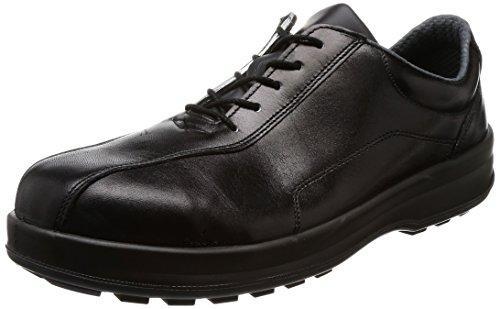 8512C245シモン 耐滑・軽量3層底安全短靴8512黒C付 24.5cm8554795【smtb-s】