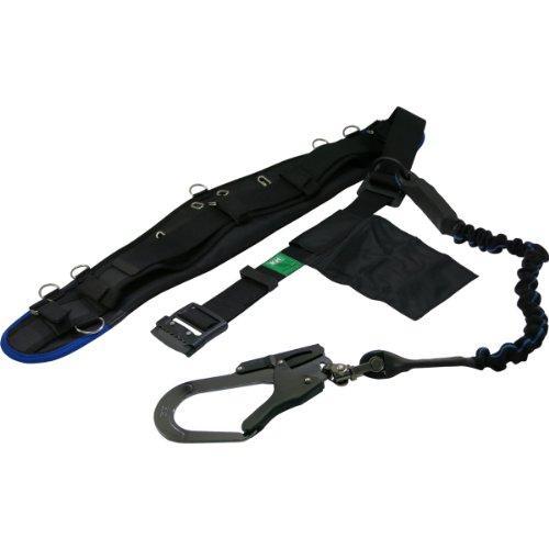 HWBKBKH エアー式補助帯付安全帯 じゃばら式 タフアルミ 自在環 黒/青7709561【smtb-s】
