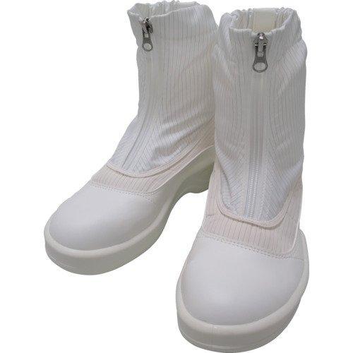 PA9875W24.0ゴールドウイン 静電安全靴セミロングブーツ ホワイト 24.0cm7591608