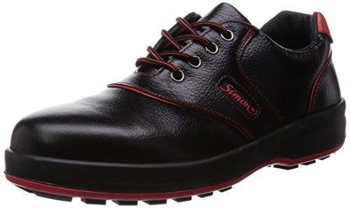 SL11R25.5シモン 安全靴 短靴 SL11-R黒/赤 25.5cm3246574【smtb-s】