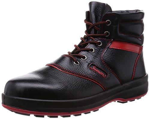 SL22R25.0シモン 安全靴 編上靴 SL22-R黒/赤 25.0cm3255662【smtb-s】