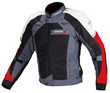 コミネ(Komine) JJ-002 Airstream M-JKT Black/Red 2XL 00-002/BK/RD/2XL【smtb-s】