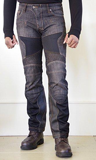 KOMINE(コミネ) スーパーフィットプロテクトレザーメッシュジーンズ  ブラック WJ-741S S/F Protect Leather M-Jeans Black WM/28 07-741/BK/WM/28【smtb-s】