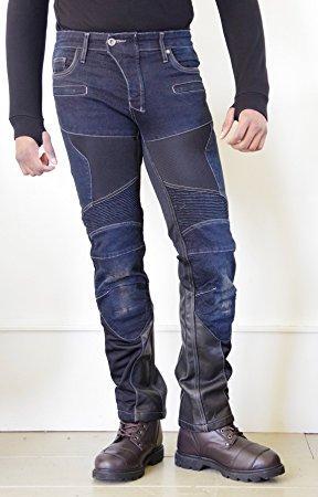 KOMINE(コミネ) コミネ(KOMINE) WJ-741S スーパーフィットプロテクトレザーメッシュジーンズ DEEP INDIGO(5XLB) S/F Protect Leather M-Jeans 07-741【smtb-s】