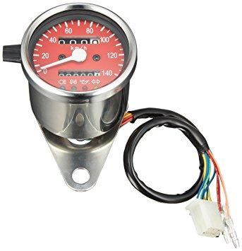 POSH 4インジケーター LED ミニスピードメータ-140km(レッド) (100014-82)