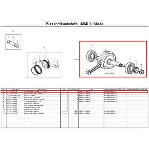 SP武川 Crankshaft Kit MONKEY (SCUT 138cc/Type-R-3B) 品番:01-10-0114【smtb-s】