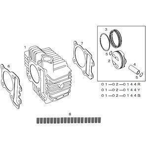 SP武川 【必ず購入前に仕様をご確認下さい】シリンダーKIT ( 178.4CC ) KSR/KLX ( 01-04-0120 )【smtb-s】