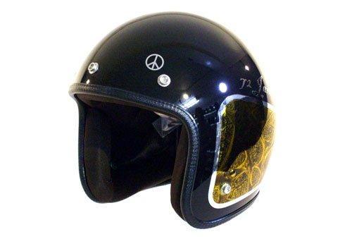 ジャムテックジャパン JCP-42 Custom Paint Jam Jet Helmets FLAMES BLACK【smtb-s】