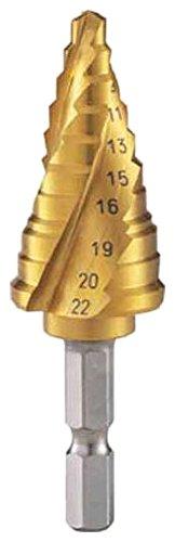 TRUSCO TRUSCO 3枚刃スパイラルステップドリル(六角軸)22mmチタンコート 3S-NMS-22G 3521168【smtb-s】
