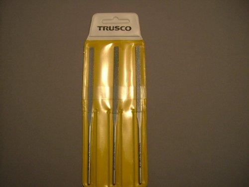 TRUSCO TRUSCO ダイヤモンドニードルヤスリS半丸・三角・平・角・丸5本組#120 TNFS3 3289257【smtb-s】