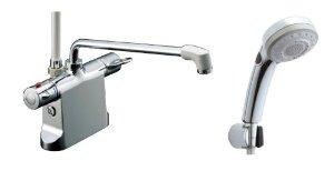 リクシル ビーフィットデッキ型シャワーバス水栓 エコフルスイッチ多機能シャワ-BF-B646TSBW(300)-A85【smtb-s】