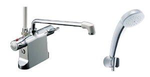 リクシル ビーフィットデッキ型シャワーバス水栓 エコフルスプレーシャワ-(メッキ仕様)BF-B646TSC(300)-A120【smtb-s】