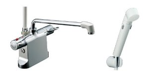 リクシル ビーフィットデッキ型シャワーバス水栓 エコフルスイッチシャワ-BF-B646TSDW(300)-A120【smtb-s】