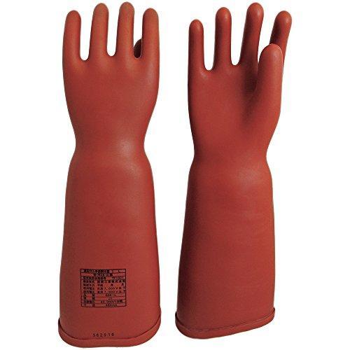 渡部工業 555Lワタベ 高圧ゴム手袋460mm胴太型L8202432【smtb-s】