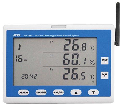 A&D AD5665A&D ワイヤレス温湿度計(表示機) AD56658185279【smtb-s】
