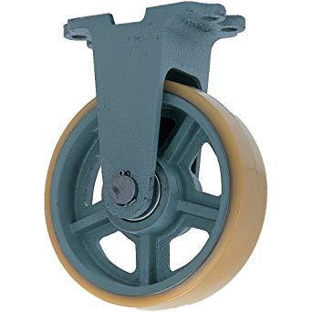 UHBK150X75ヨドノ 鋳物重荷重用ウレタン車輪固定車付き UHBーk150X758353228【smtb-s】