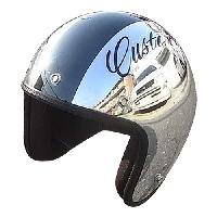 ジャムテックジャパン JCP-06 Custom Paint Jam Jet Helmets CHROMES CM/BK 56-59cm【smtb-s】