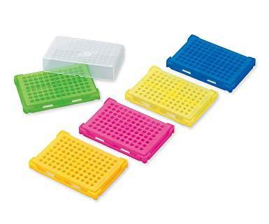 アズワン(As One) PCRラック 本体5色パック(青・緑・オレンジ・ピンク・黄×各4個入)1-4309-01【smtb-s】