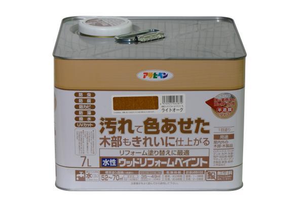 アサヒペン 水性ウッドリフォームペイント 7Lライトオーク【smtb-s】