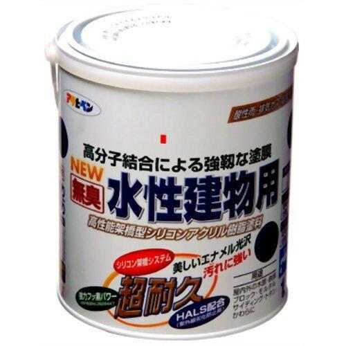 【送料無料】 アサヒペン 水性建物用1.6Lこげ茶【入数:6】【smtb-s】
