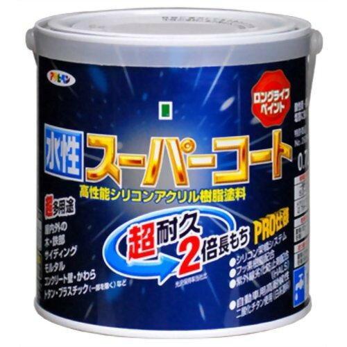 アサヒペン 水性スーパーコート0.7Lツヤ消し白【入数:6】【smtb-s】