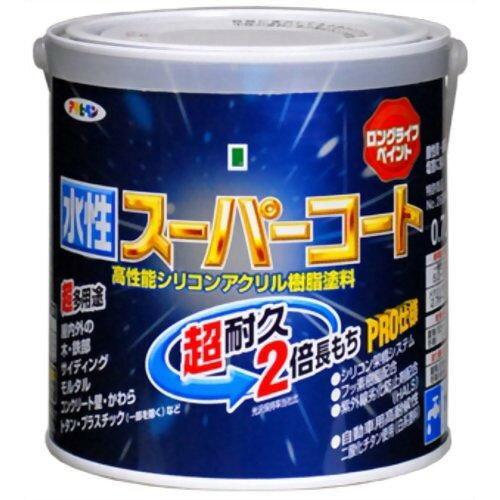 アサヒペン 水性スーパーコート0.7L銀黒【入数:6】【smtb-s】