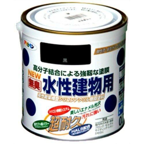 アサヒペン 水性建物用0.7L黒【入数:6】【smtb-s】