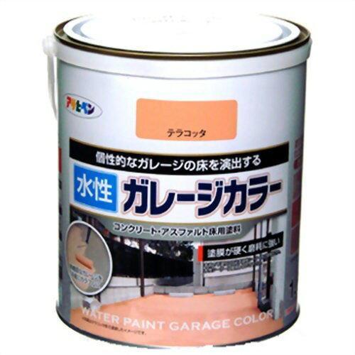 アサヒペン 水性ガレージカラー1.6Lテラコッタ【入数:6】【smtb-s】
