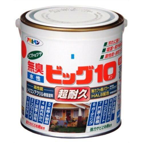アサヒペン 水性ビッグ10多用途1.6L201赤【入数:6】【smtb-s】