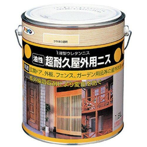 アサヒペン 超耐久屋外用ニス1.8L透明(クリヤ)【入数:6】【smtb-s】