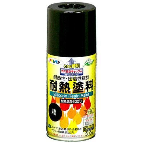 アサヒペン 耐熱塗料スプレー300ML黒【入数:6】【smtb-s】