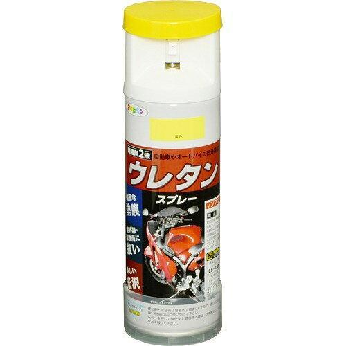 アサヒペン 2液ウレタンスプレー300ML黄色【入数:6】【smtb-s】