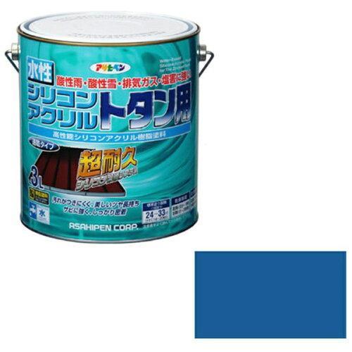 アサヒペン 水性シリコンアクリルトタン用3Lスカイブルー【入数:4】【smtb-s】