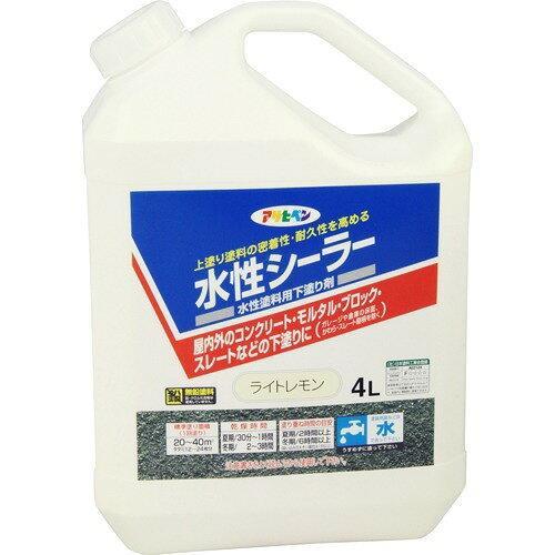 アサヒペン 水性シーラー4Lライトレモン【入数:4】【smtb-s】