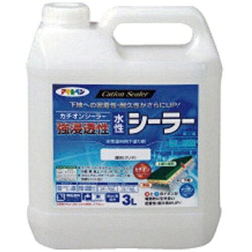 アサヒペン 強浸透性水性シーラー3L透明(クリヤ)【入数:4】【smtb-s】