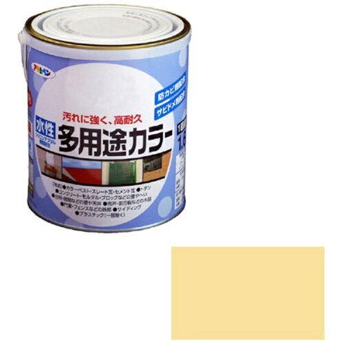 アサヒペン 水性多用途カラー1.6Lクリーム【入数:6】【smtb-s】